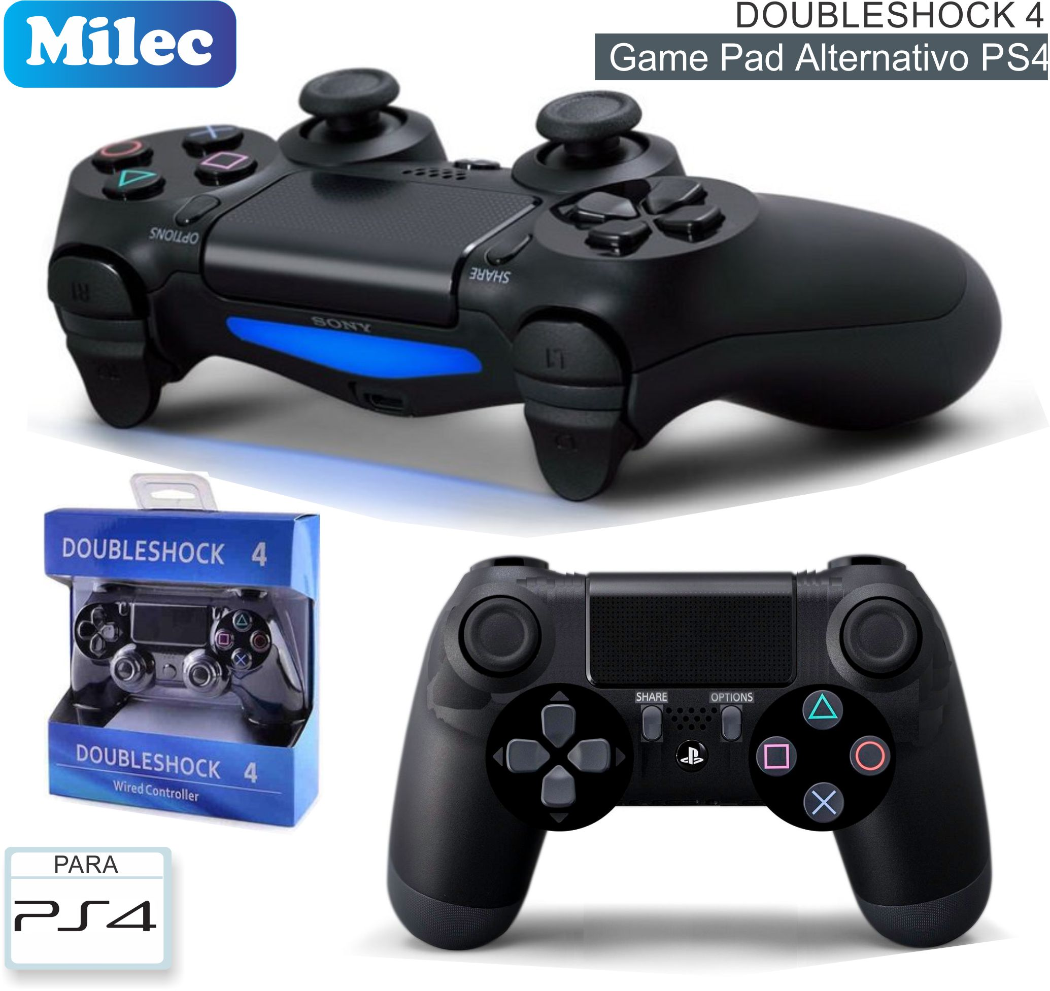 Game Pad Inalambrico MILEC Doubleshock 4 PS4