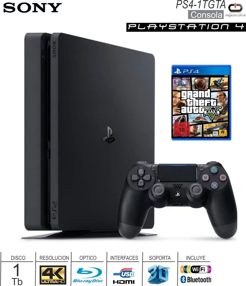 Consola SONY PlayStation 4 Slim 500 Gb Uncharted 4