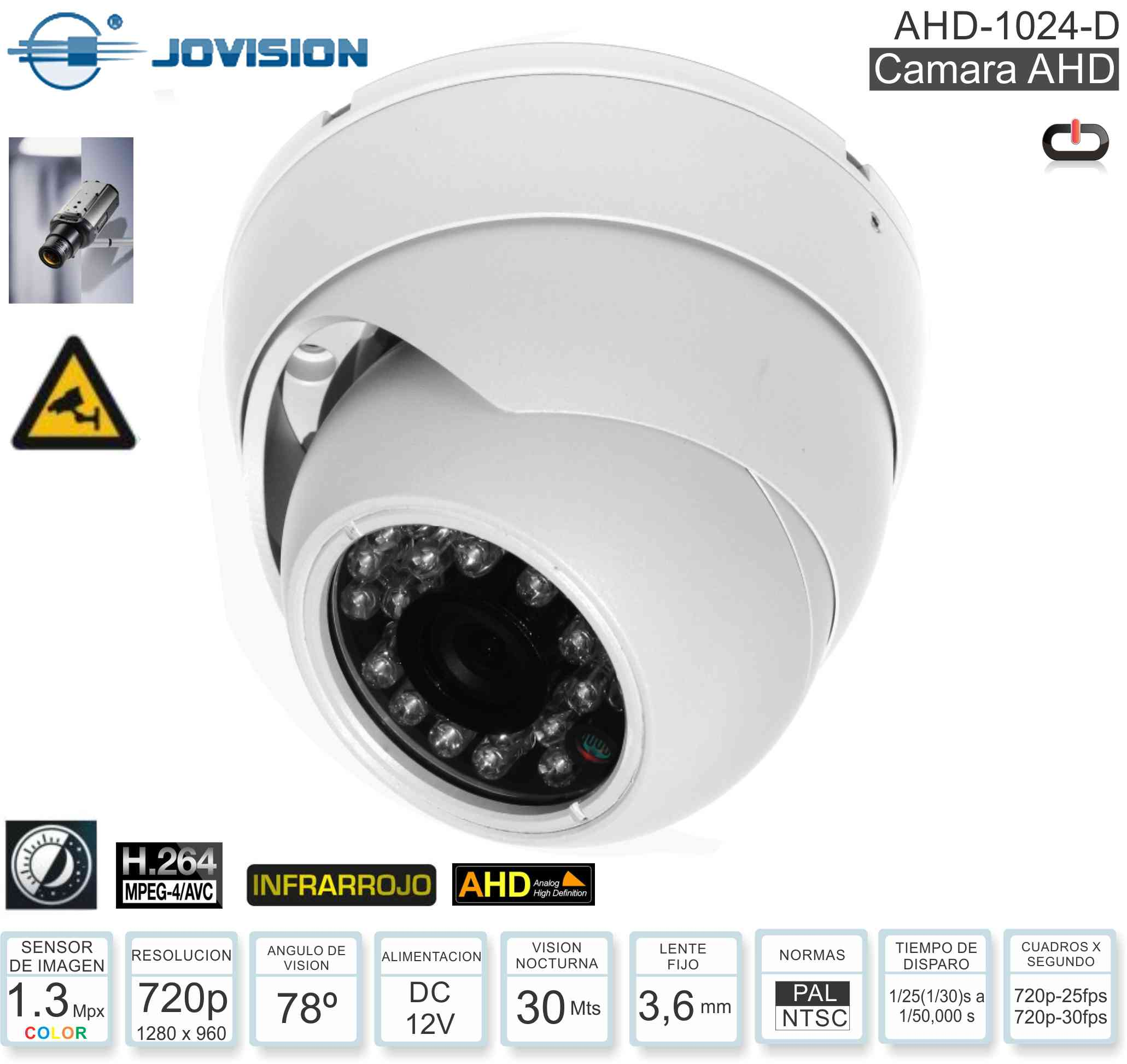 Domo CCTV AHD0720 HIKVISION DS-2CE56C2T-IRP