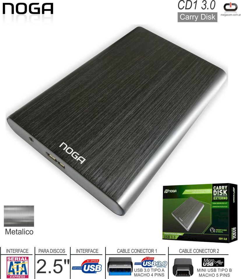 Case 2.5 SATA - USB 2.0 Ext NETMAK NM-CARRY