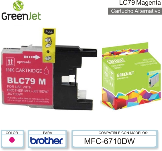 Cart ALT BROTHER LC79 Mag GREENJET