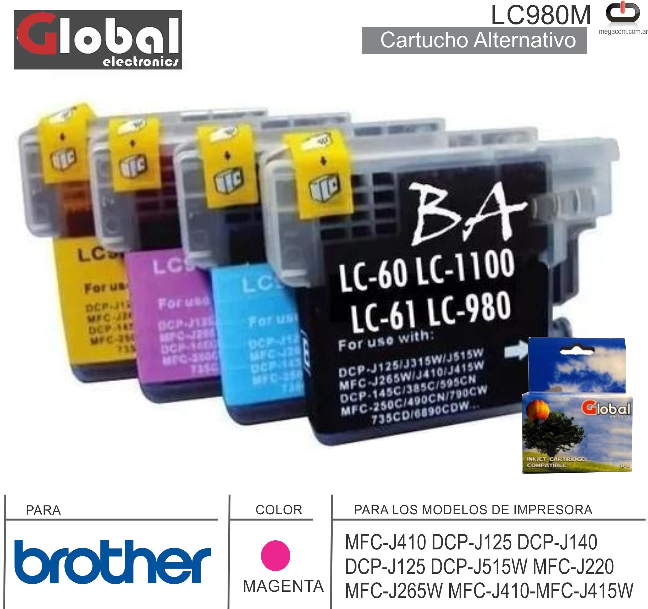 Cart ALT BROTHER LC980M Mag GLOBAL