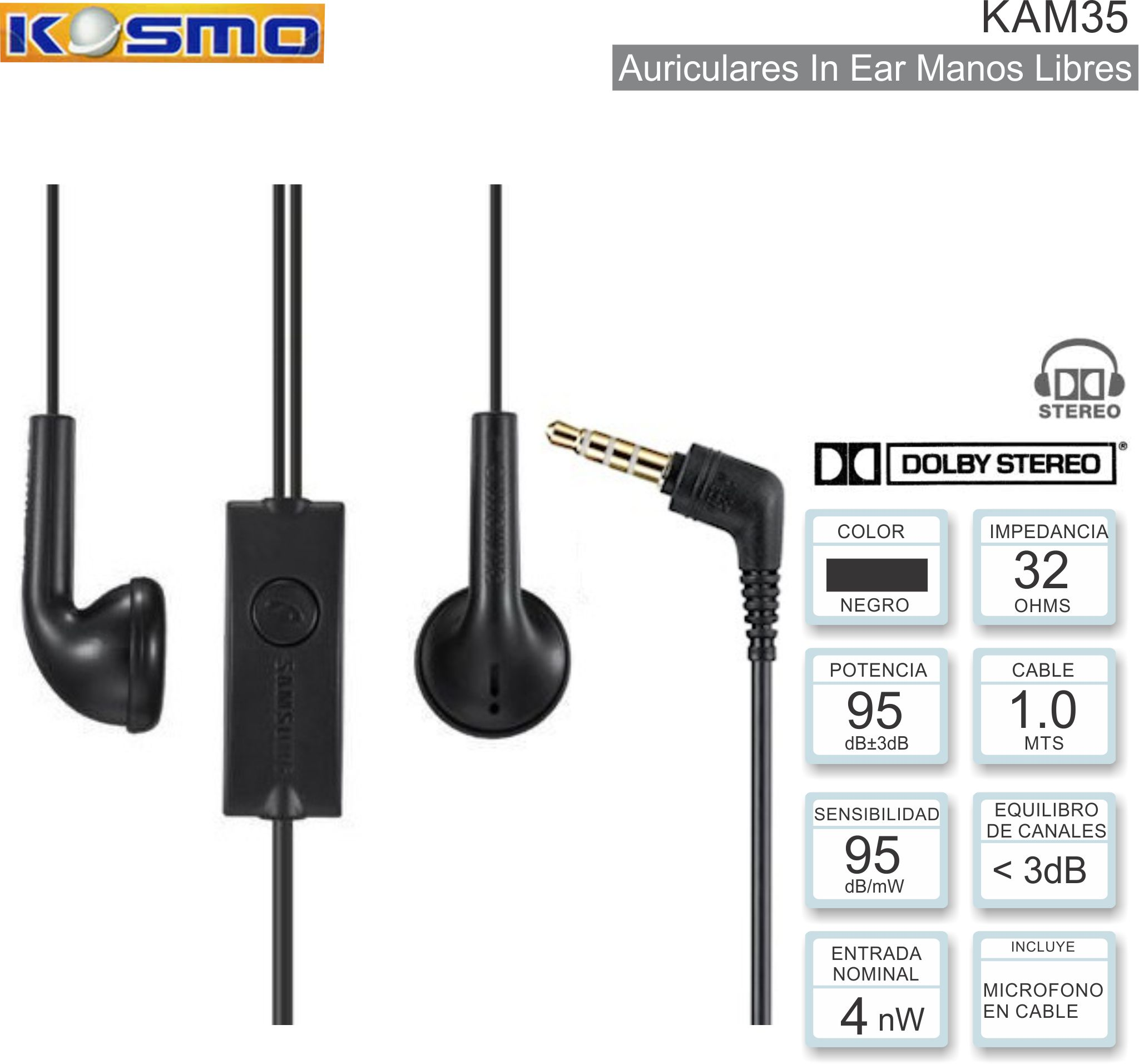 Auricular ML IN KOSMO KAM35