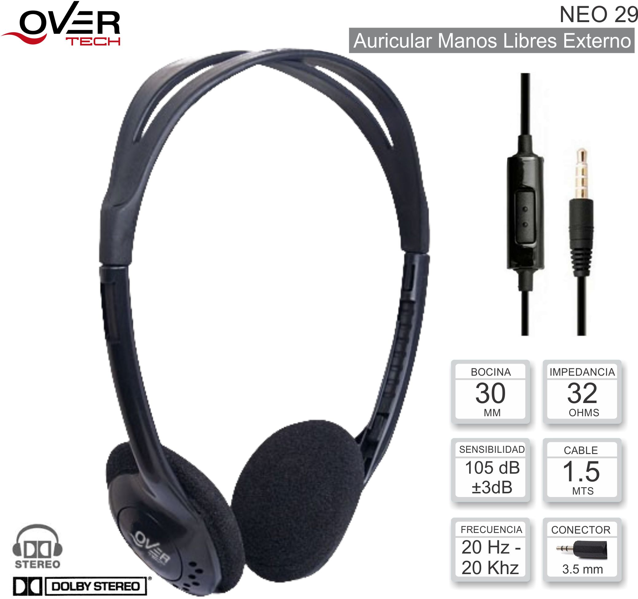 Auricular ML ON OVERTECH Neo 29