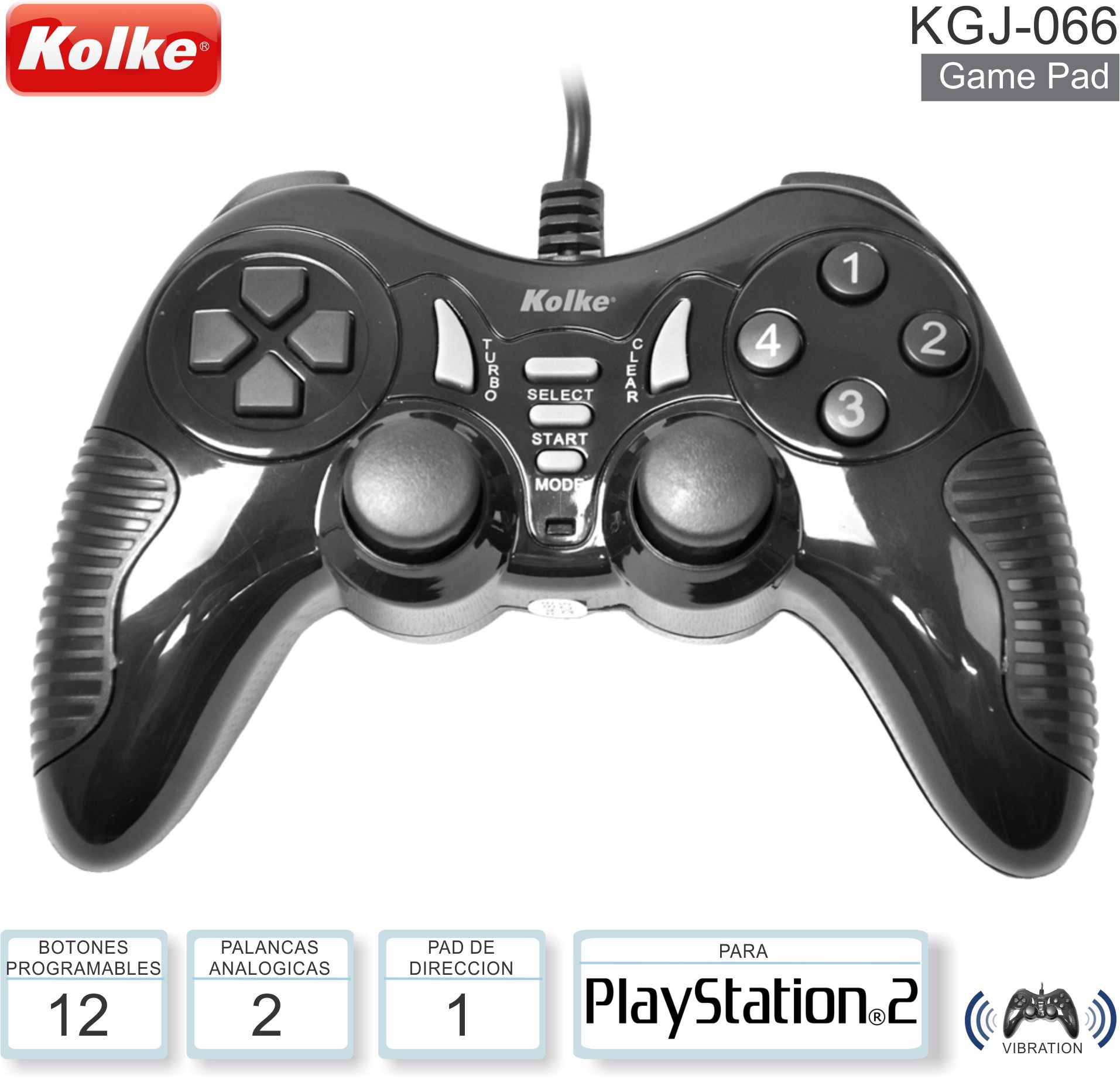 Game Pad KOLKE KGJ-066 PS2