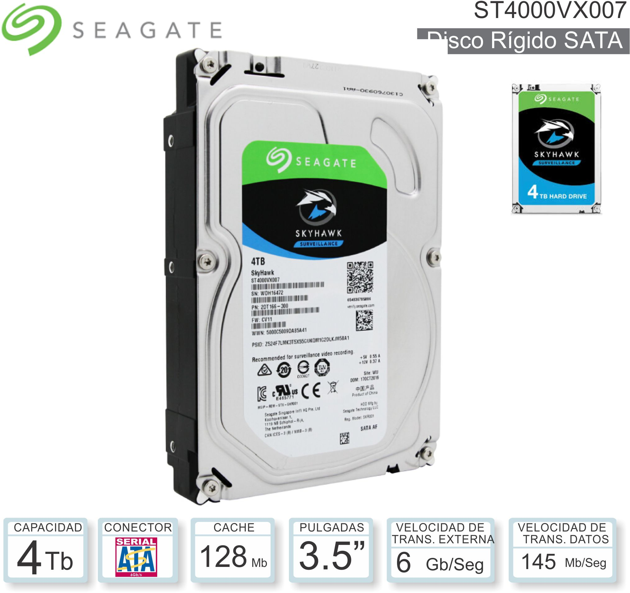 Disco Rigido 3.5 SATA 4096 Gb WD Red NAS WD40EFRX