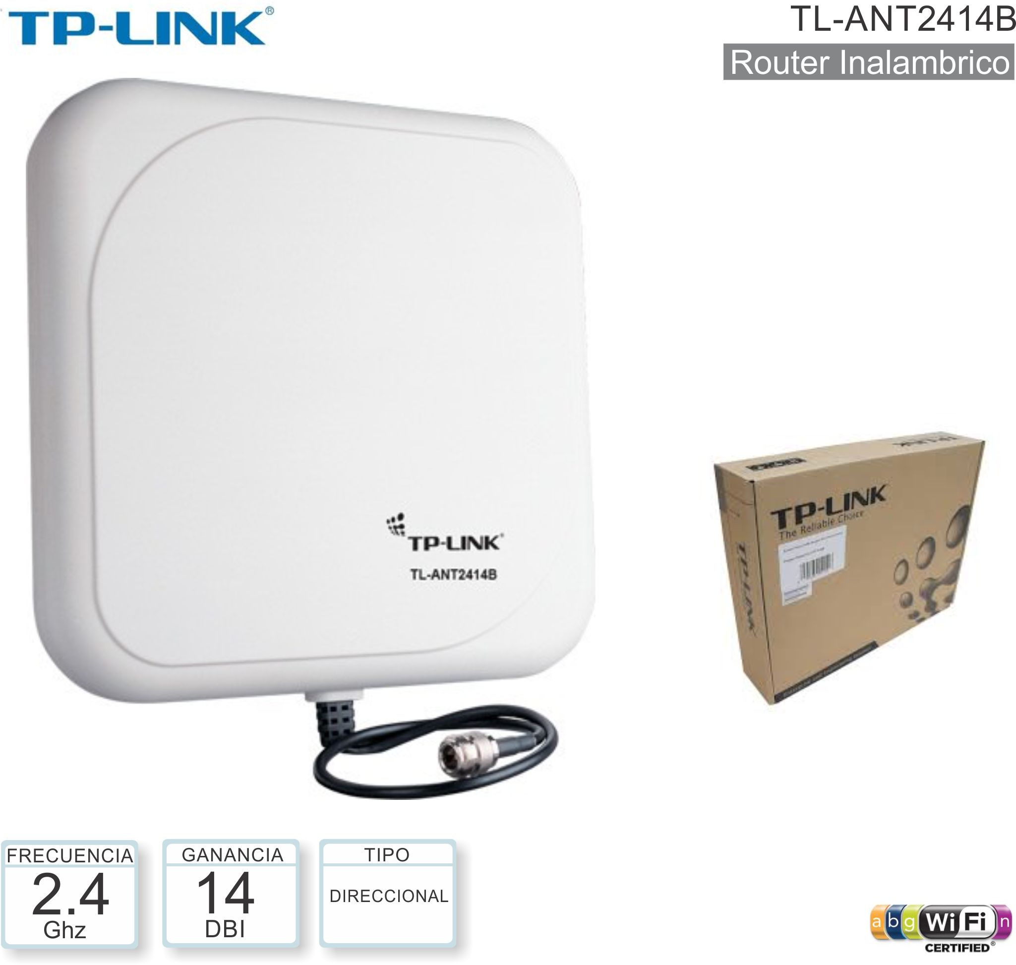 Antena TP-LINK TL-ANT2414B Outdoor 14dbi
