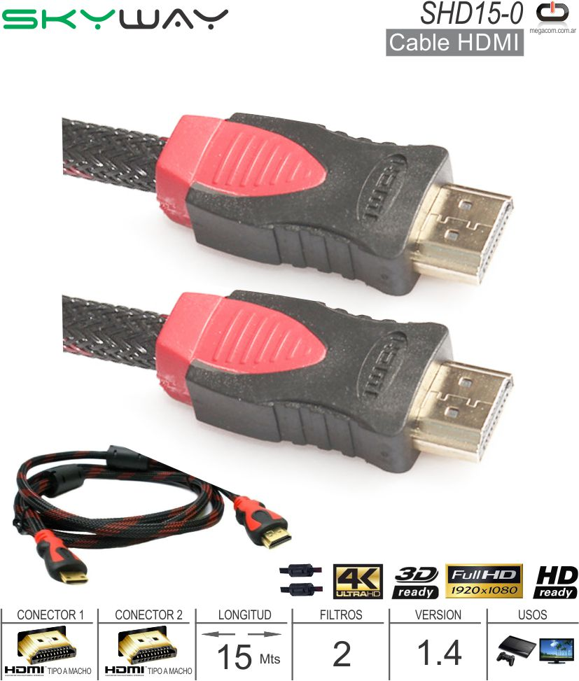 Cable HDMI M - HDMI M 15.0M SKYWAY SHD15-0
