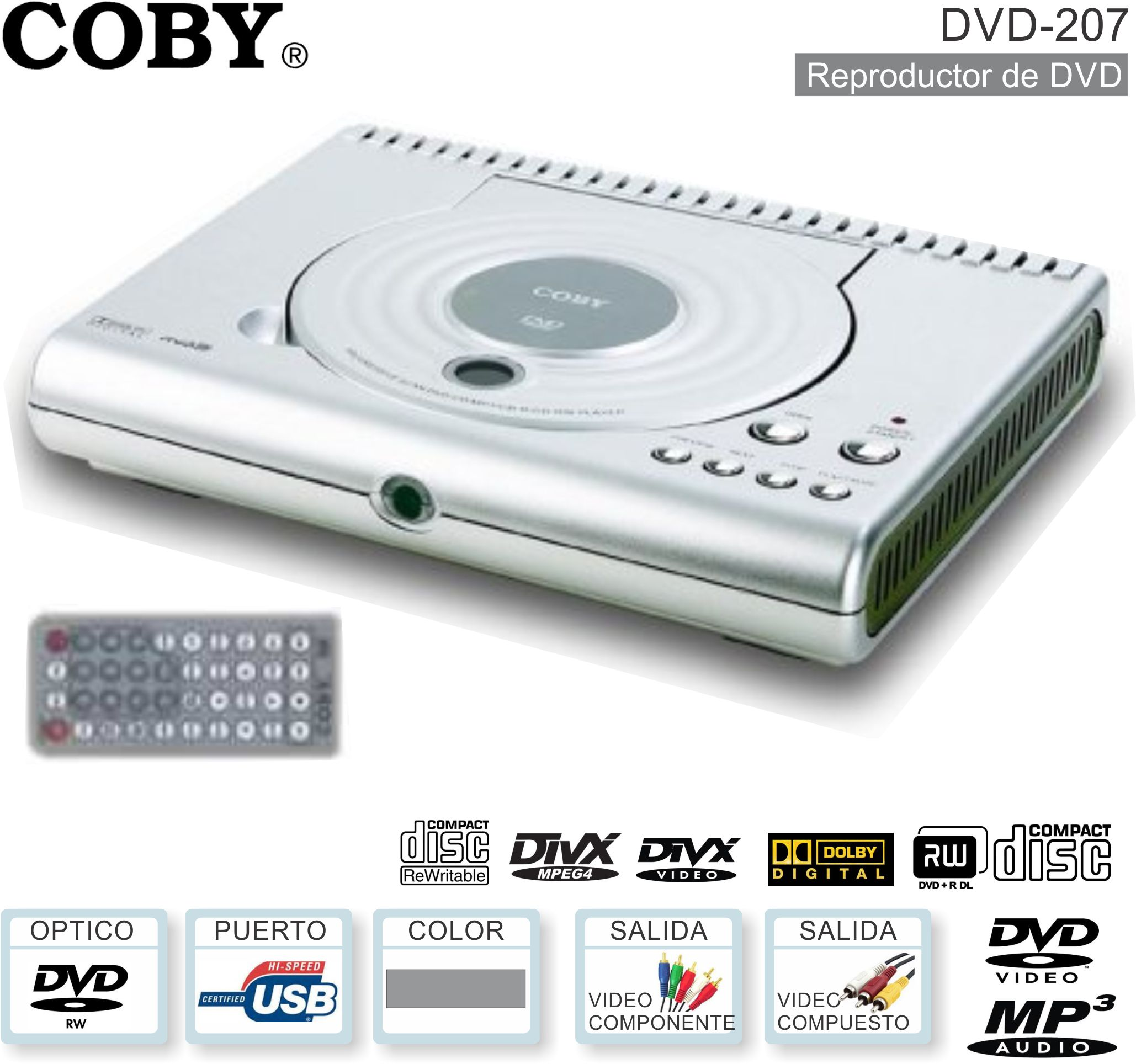 Reproductor DVD COBY DVD-207