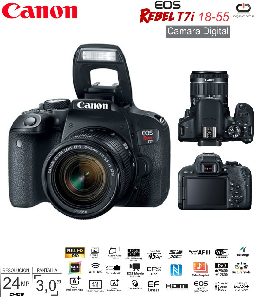 Cam CANON EOS Rebel T6 Body
