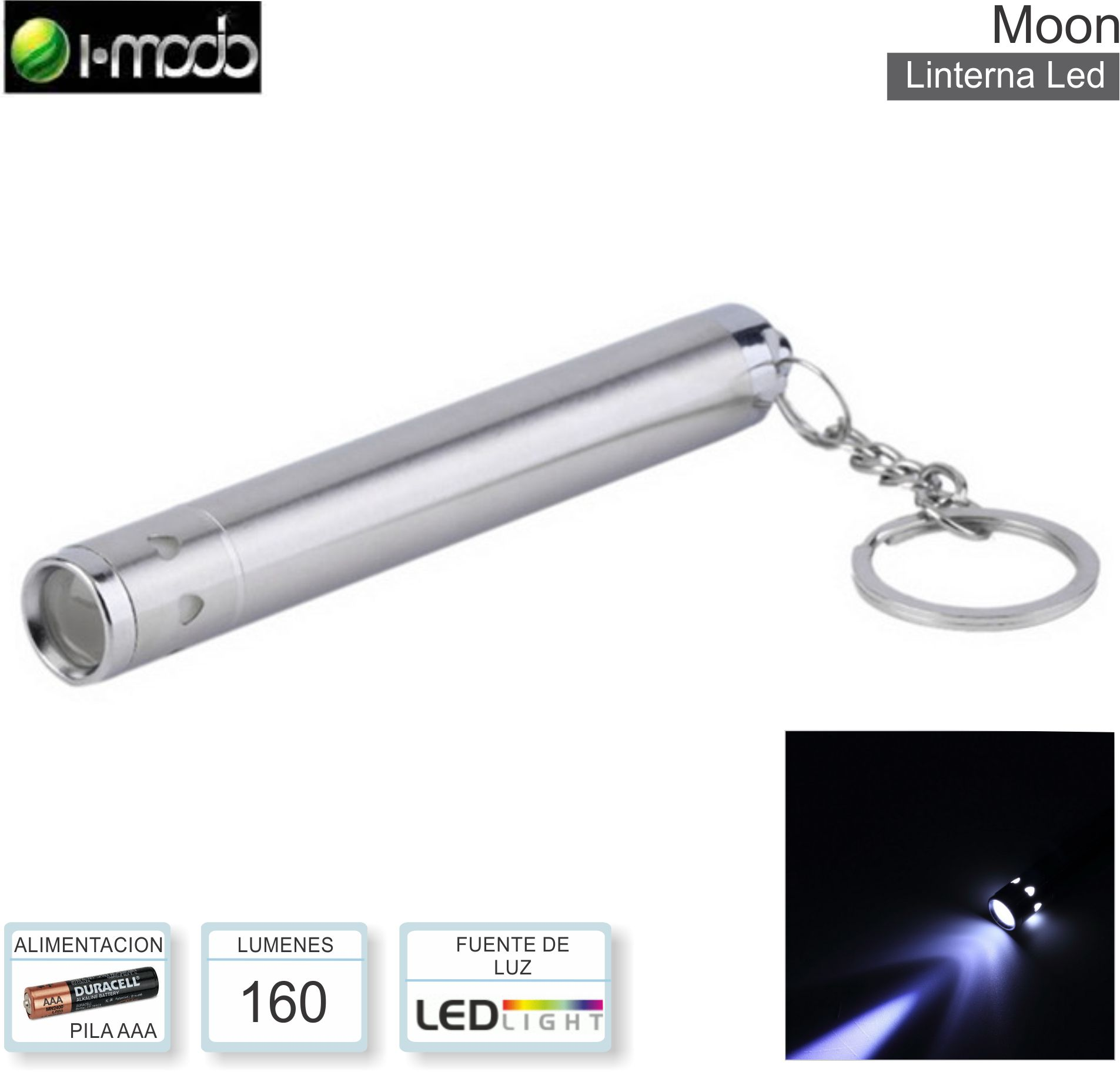 Linterna IMODO Moon Mini Led ( Llavero )