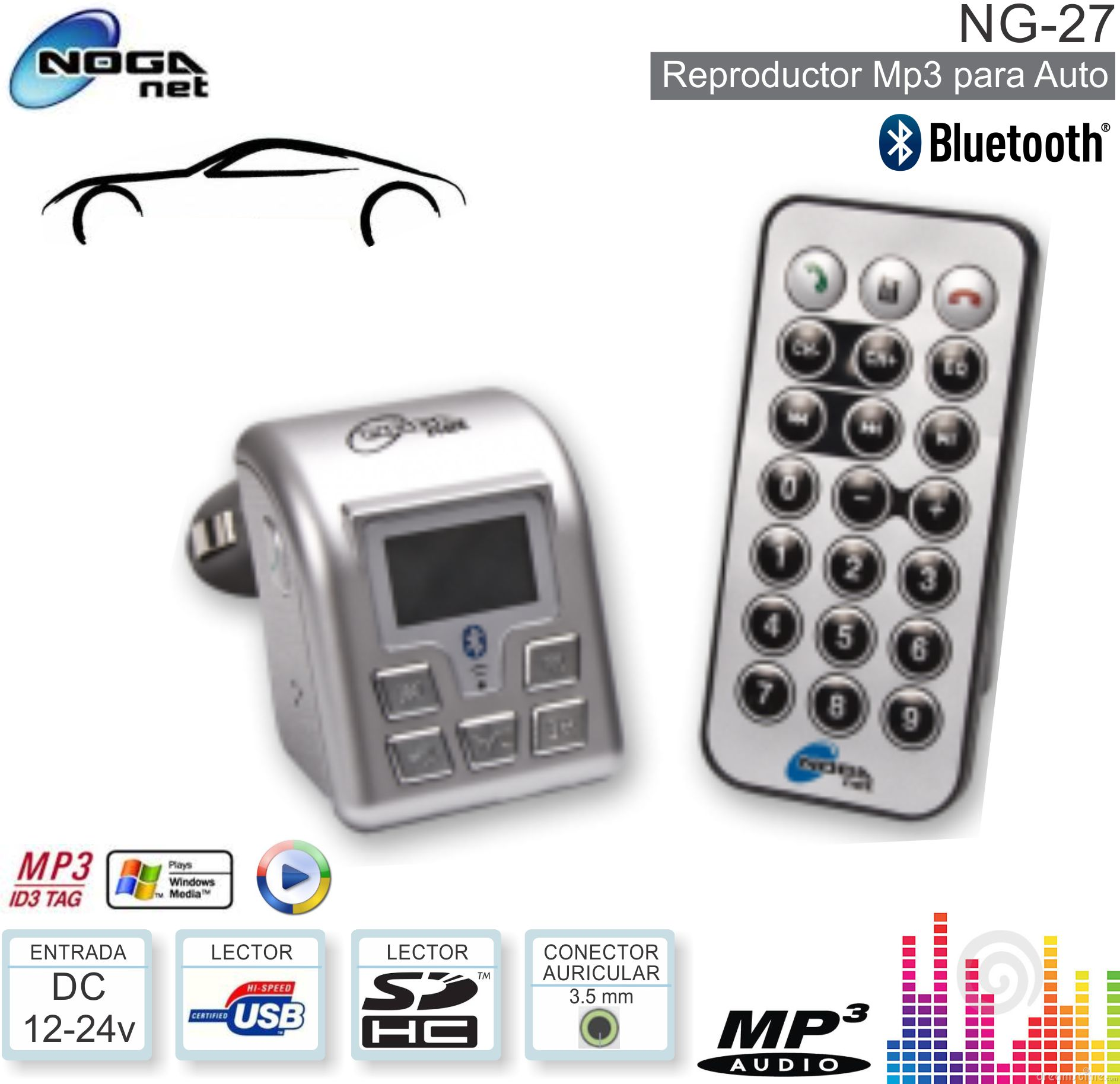 MP3 CAR NOGANET NG-27 Bluetooth