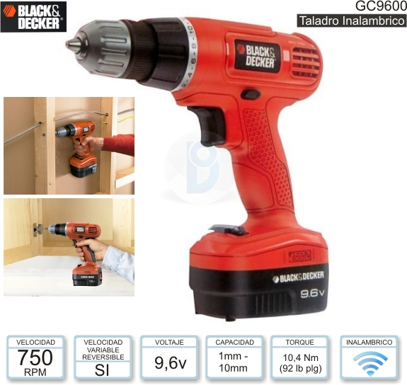 Taladro BLACK & DECKER GC9600 (Inalambrico)