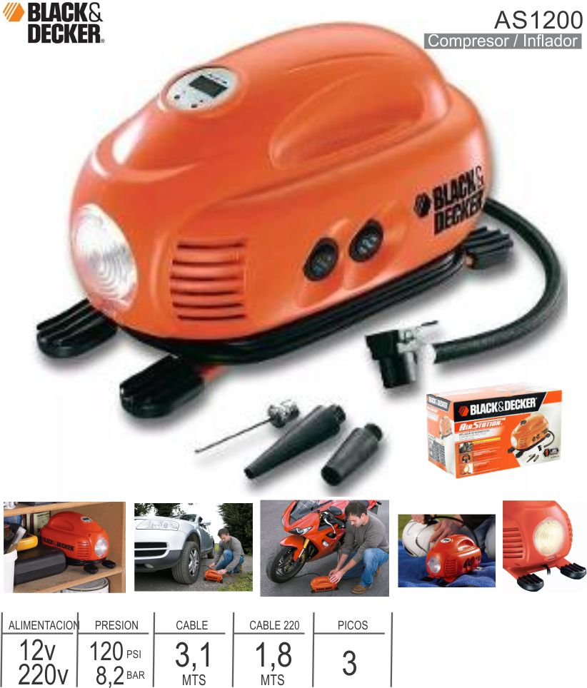 Compresor Inflador BLACK & DECKER AS1200