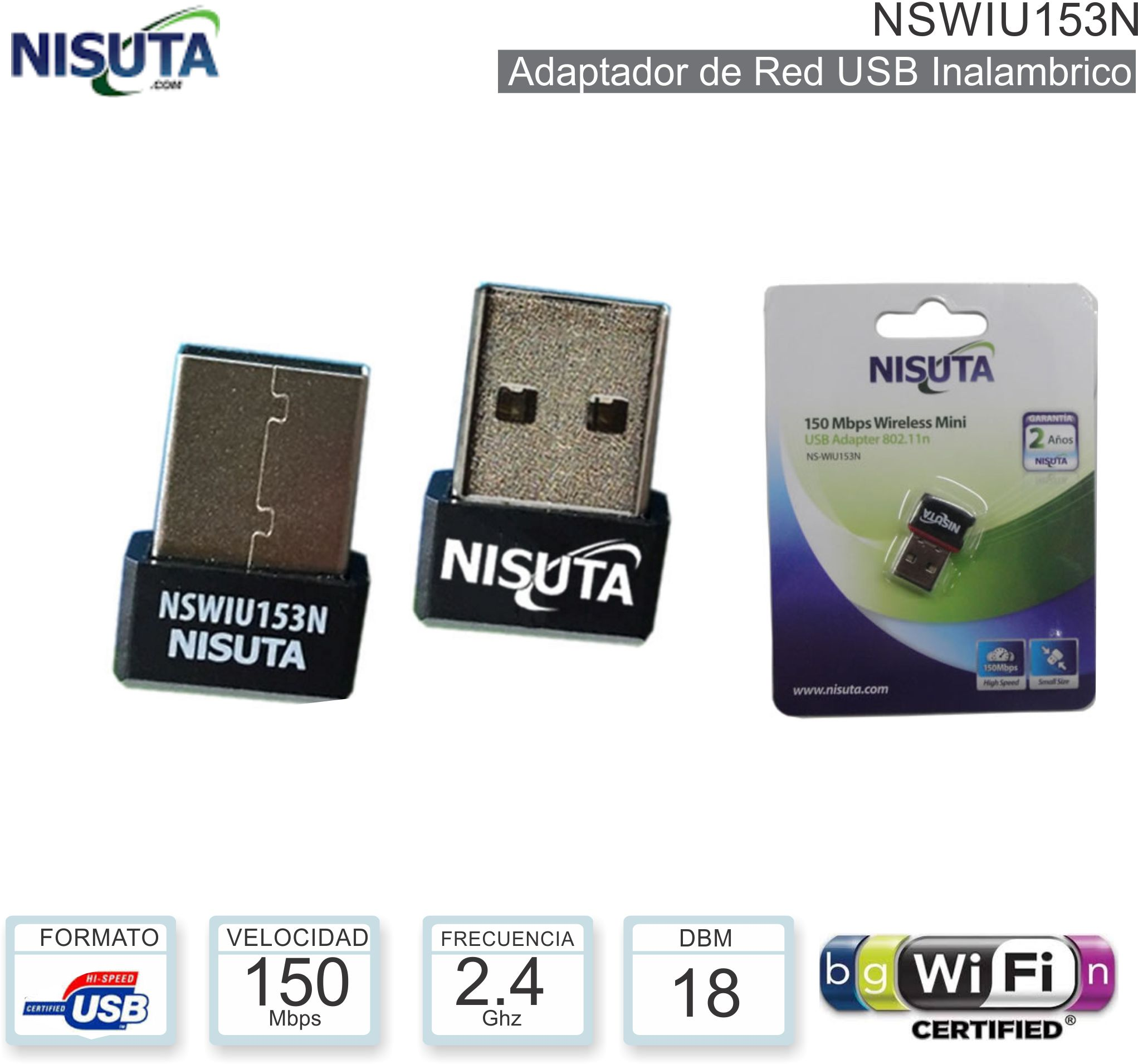 Red USB WIFI NISUTA NSWIU153N