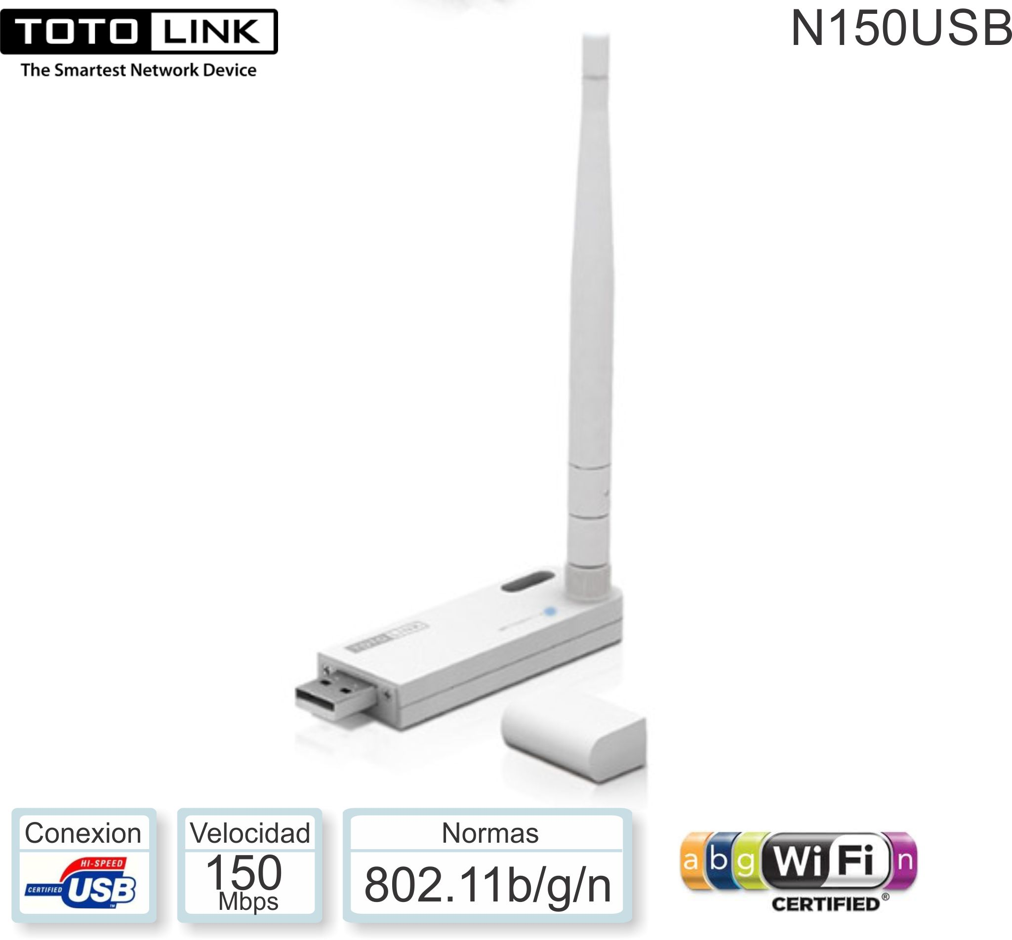 Red USB WIFI TOTOLINK N150USB