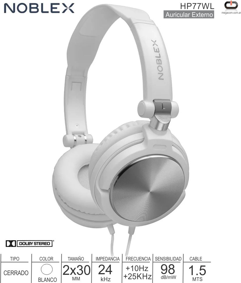 Auricular ON NOBLEX HP77WS Blanco