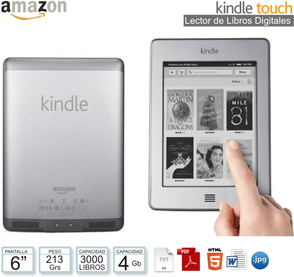Lector de Libros AMAZON KINDLE Touch