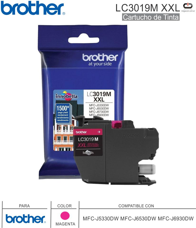 Cart BROTHER LC3019M XXL Magenta