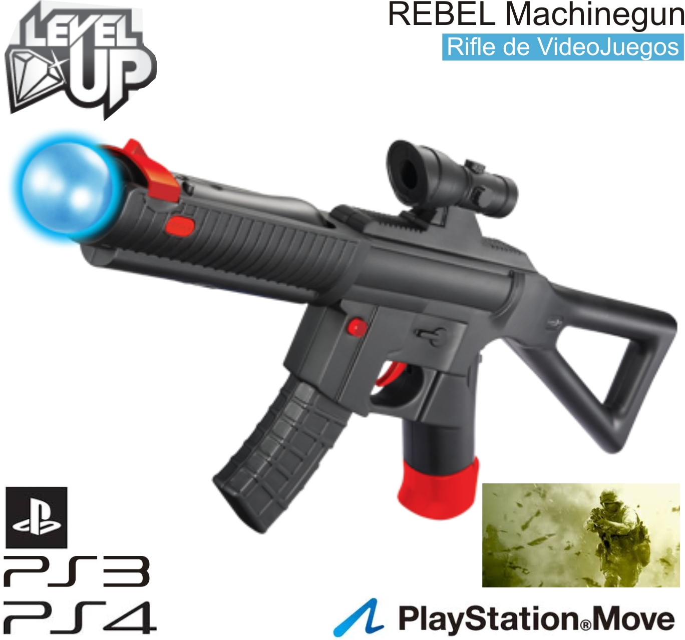 Rifle de Asalto LEVELUP REBEL Machinegun