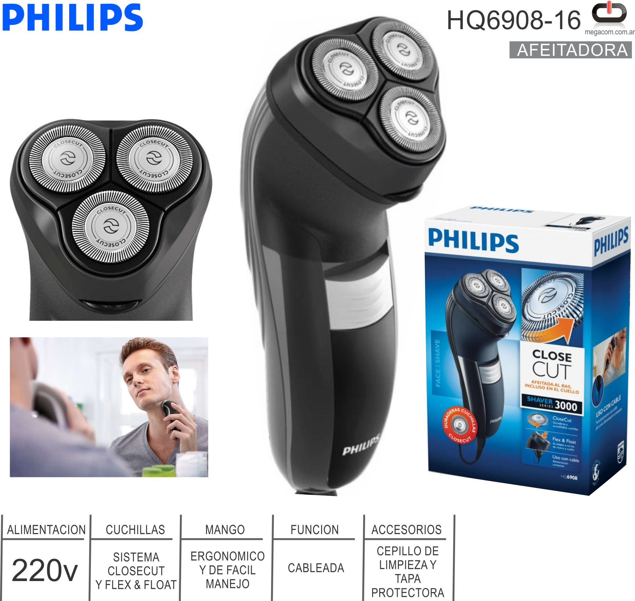 Afeitadora PHILIPS HQ6908-16