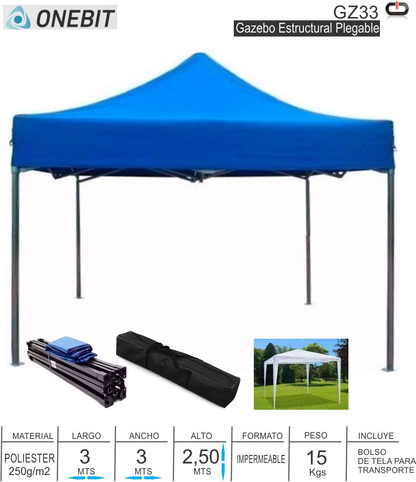 Gazebo ONEBIT GZ33 Plegable Estructural