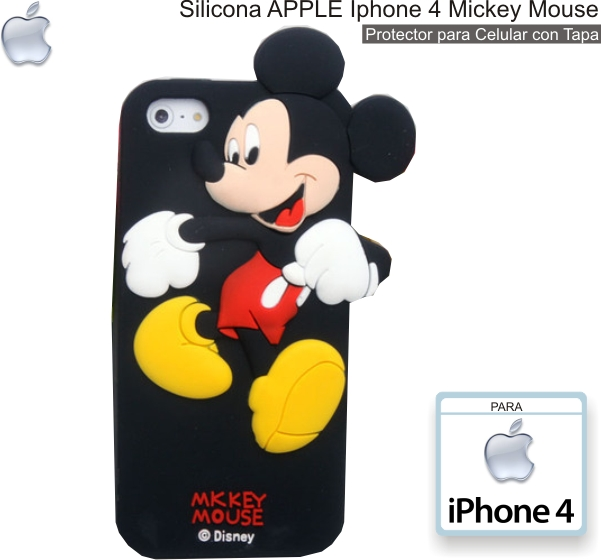Silicona APPLE iPhone 4 Mickey Mouse