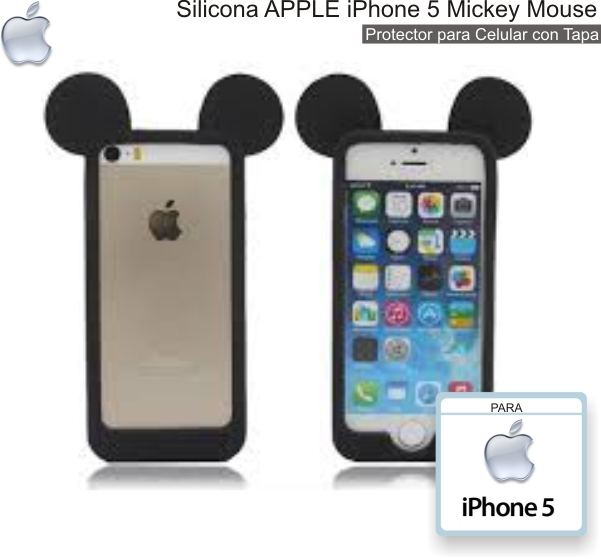 Silicona APPLE iPhone 5 Mickey Mouse