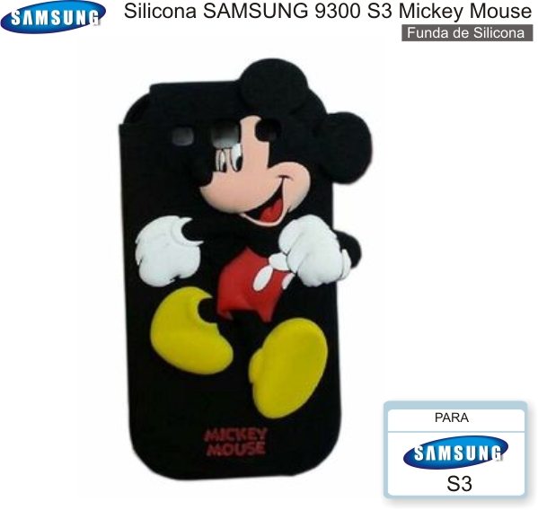 Silicona SAMSUNG 9300 S3 Mickey Mouse