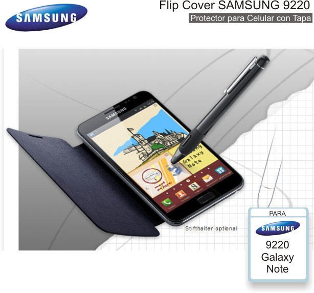 Flip Cover SAMSUNG 9220 (Note)