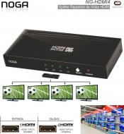 Splitter Video HDMI 4 Sal MILEC MLHDMI4 S/T