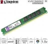 Mem DDR3 02Gb 1333 1.50v KINGSTON KVR13N9S6/2