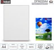 Papel A4 Doble Fax Mate 220G/020H GLOBAL DFM220A4
