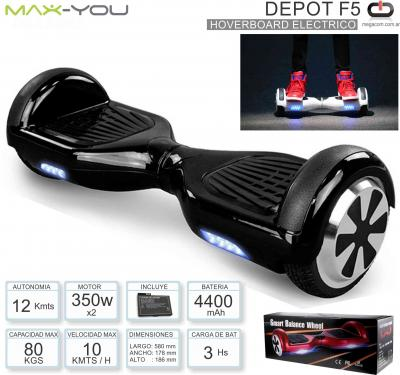 Hoverboard Electrico OVERTECH HOVG1N Negro