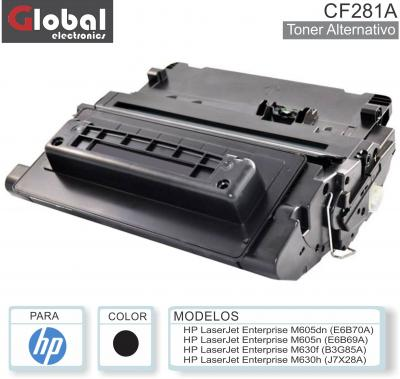 Toner ALT HP CF281A Neg GLOBAL