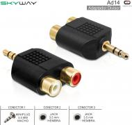 Adaptador Plug 3.5mm - 2 Jack 3.5 H SKYWAY AD14