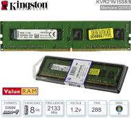 Mem DDR4 08Gb 2133 1.20V KINGSTON KVR21N15S8/8