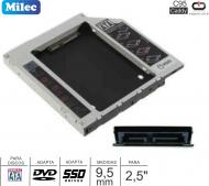 Caddy MILEC C95 DVD SATA 9.5MM Slim - SATA 2.5