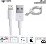 Cable USB M - Lightn 30P M PLEX CPA02 Apple