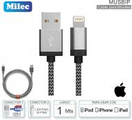 Cable USB M - Lightn 30P M MILEC MUSBIP Apple