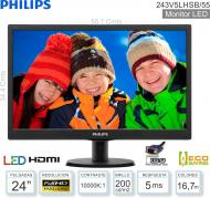 Monitor LED 24 FHD PHILIPS 243V5LHSB/55 HDMI