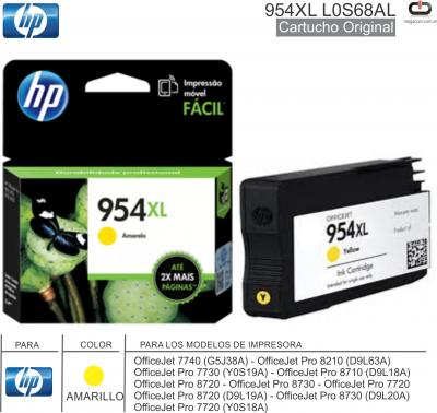 Cart HP 954XL L0S68AL Ama