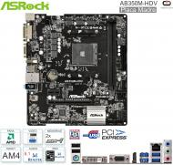 Mother AMD AM4 ASROCK AB350M-HDV